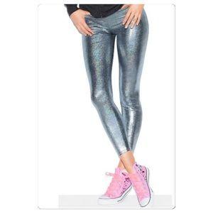 Victoria's Secret Pink Grey Hologram Leggings,Med